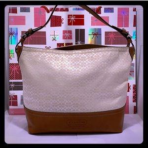 Like New COACH Leather/Canvas Large Shoulder Bag